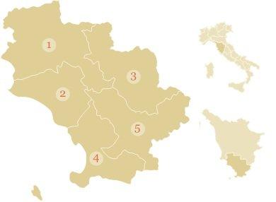 Maremma Tuscany Map